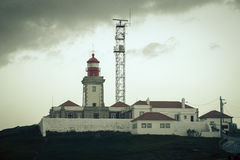 Roca cape lighthouse in Portugal, West most point of Europe ( Ca Stock Image