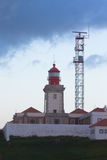 Roca cape lighthouse in Portugal, West most point of Europe ( Ca Stock Photos