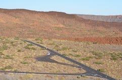 Roca, cielo, Teide, carretera Fotografía de archivo libre de regalías