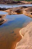 Roca colorida Foto de archivo libre de regalías