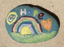 Roca colorida de la esperanza Foto de archivo libre de regalías