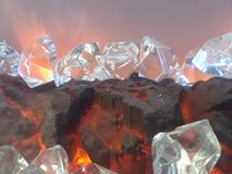 Roca cristalina de la lava Fotos de archivo