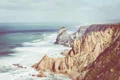 Roca DA Cabo, το δυτικό σημείο της Ευρώπης, Πορτογαλία Στοκ φωτογραφία με δικαίωμα ελεύθερης χρήσης