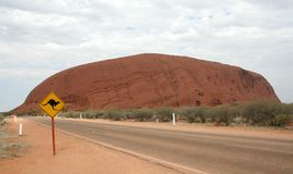 Roca de Ayers Imagenes de archivo