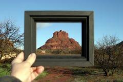 Roca de Bell enmarcada Fotografía de archivo libre de regalías