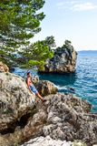 Roca de Brela, Croacia imágenes de archivo libres de regalías