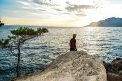 Roca de Brela, Croacia foto de archivo libre de regalías