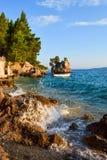 Roca de Brela, Croacia imagen de archivo libre de regalías