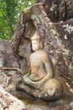 Roca de Buda que talla en Udonthani, Tailandia Imagenes de archivo