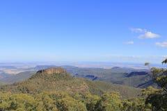 Roca de Euglah que mira hacia fuera de Doug Sky Lookout imagenes de archivo