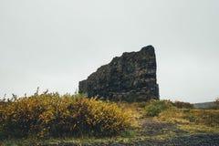 Roca de Eyjan fotografía de archivo