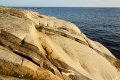Roca de fondo de Stangnes la roca más vieja de Noruega Imagen de archivo