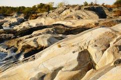 Roca de fondo de Stangnes la roca más vieja de Noruega Imagenes de archivo