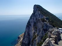 Roca de Gibraltar Fotos de archivo libres de regalías