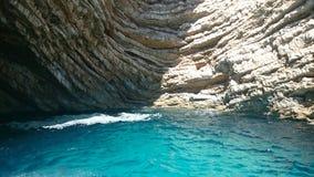 Roca de Grecia del viaje Foto de archivo