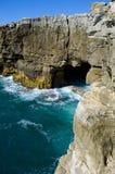 Roca de Inferno. Inferno da boca. Cascais. Portugal Imagens de Stock