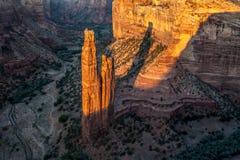 Roca de la araña en Canyon de Chelly foto de archivo libre de regalías