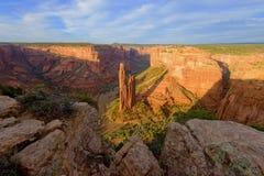 Roca de la araña, monumento nacional de Canyon de Chelly Foto de archivo