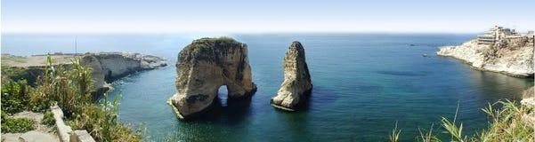 Roca de la bahía Foto de archivo libre de regalías