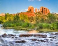 Roca de la catedral de Sedona Arizona Imagen de archivo