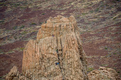 Roca de la catedral del La, punto que sube en la isla de Tenerife imagen de archivo libre de regalías