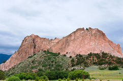Roca de la catedral en el jardín de dioses Imagen de archivo libre de regalías