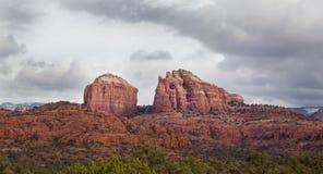 Roca de la catedral en Sedona Arizona Imagen de archivo libre de regalías