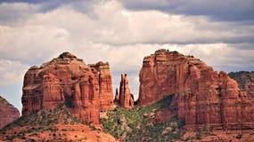 Roca de la catedral, Sedona Foto de archivo libre de regalías