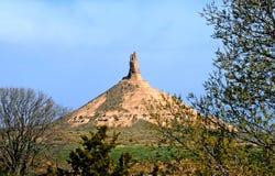 Roca de la chimenea, Nebraska Imagen de archivo