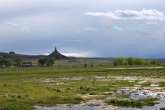 Roca de la chimenea, Nebraska Imagen de archivo libre de regalías