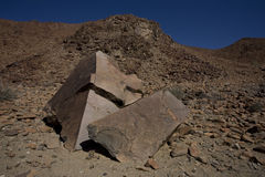 Roca de la dolomía, parque nacional de Richtersveld. foto de archivo