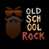 Roca de la escuela vieja - letras dibujadas mano única Imagen de archivo libre de regalías
