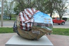 Roca de la libertad, Ottumwa, Iowa Imagenes de archivo