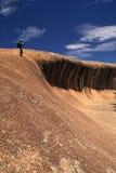 Roca de la onda en Australia occidental Imagen de archivo libre de regalías