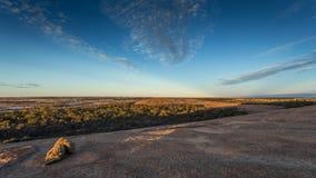 Roca de la onda - Hyden, Australia occidental foto de archivo
