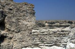 Roca de la piedra caliza Fotografía de archivo libre de regalías