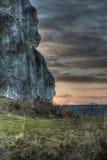 Roca de la piedra caliza Foto de archivo libre de regalías