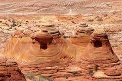 Roca de las tiendas de los indios norteamericanos Fotografía de archivo