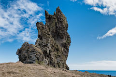 Roca de Londrangar en el parque nacional Islandia de Snaefellsnes Imagenes de archivo