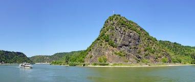 Roca de Loreley en el río Rhine, Alemania fotografía de archivo