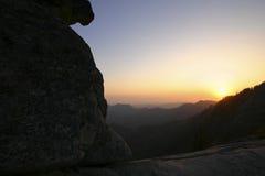 Roca de Moro, parque nacional de reyes Canyon foto de archivo