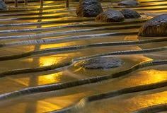 Roca de oro Imágenes de archivo libres de regalías