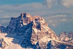 Roca de Pelmo, dolomías, Italia. imagen de archivo libre de regalías