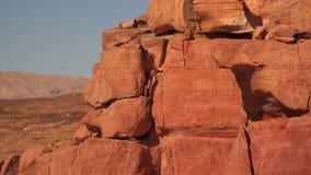 Roca de piedra en la península del Sinaí almacen de video