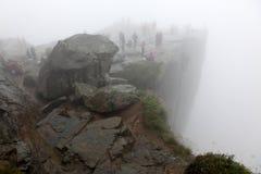 Roca de Preikestolen Fotografía de archivo