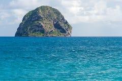 Roca de Rocher du Diamant Diamond en Martinica fotografía de archivo