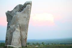 Roca de Teter, el condado de Greenwood Kansas Imagen de archivo