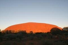 Roca de Uluru - de Ayers Fotos de archivo libres de regalías