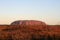 Roca de Uluru - de Ayers Imagenes de archivo