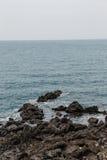 Roca de Yongduam (Dragon Head Rock) Jeju, Corea del Sur Imagen de archivo libre de regalías